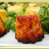 Cannelés bacon, comté, courgette