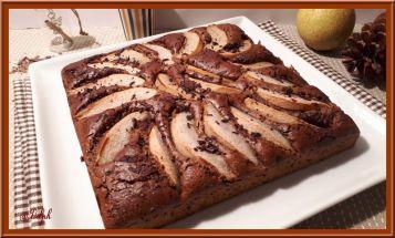 Gâteau aux poires noisette et chocolat