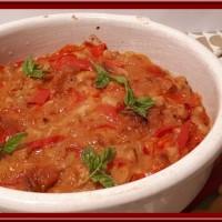 Tavtché gravtché (Haricots blancs et poivrons au four)