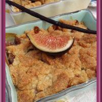 Crumble vanillé aux figues