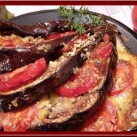 Éventail d'aubergine