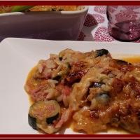 Gratin de courgettes  et d'aubergine