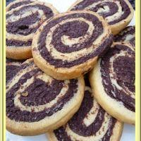 Petits sablés chocolat-vanille en forme de spirale