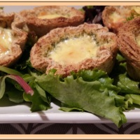 Quiche toast cups au saumon