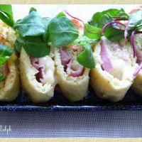 Roulé de pommes de terre jambon raclette
