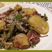 Poêlée de haricots verts et pommes de terre