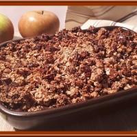 Crumble de pommes aux céréales et fruits secs