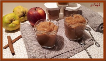 Compote coings pommes