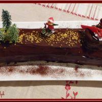Bûche chocolat-marron