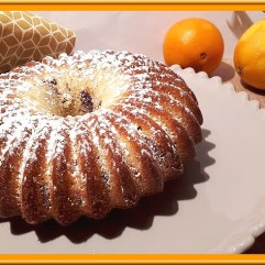 Gâteau marbré chocolat orange