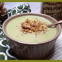 Velouté de chou-fleur et brocolis au lait d'amande