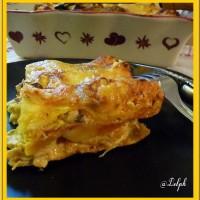 Lasagnes poulet et champignons