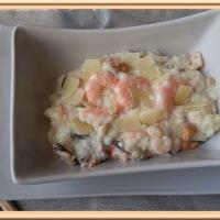 Risotto aux fruits de mer et crevettes