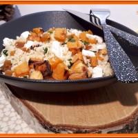 Couscous à la patate douce et aux abricots