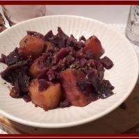 Chou rouge, pommes de terre et lardons au Cookéo