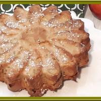 Gâteau au yaourt aux pommes et à la rhubarbe