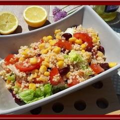 Salade de boulghour haricots rouges maïs