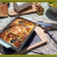 Flan aux épinards, jambon et chèvre