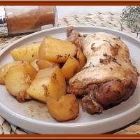 Cuisses de poulet et pommes de terre
