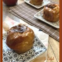 Pommes au four cœur chocolat