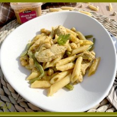 One pot pasta aux haricots pois chiches et poulet